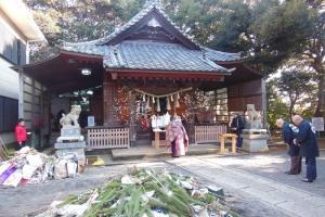 青木神社のどんど焼き2