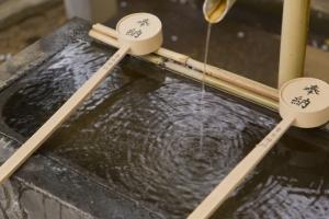 青木神社の手水舎