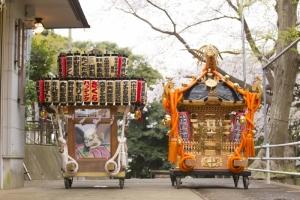 笠青睦會の神輿