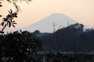 青木神社から望む富士山